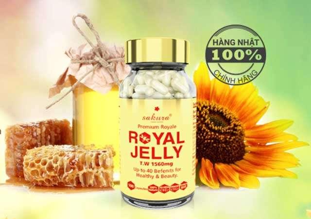 Sakura Royal Jelly được chiết xuất từ sữa ong chúa tươi nguyên chất được tinh chiết bởi công nghệ hiện đại nhất của Nhật