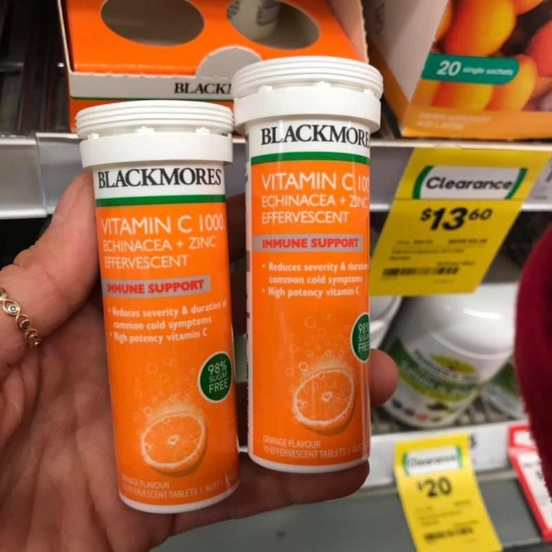 Blackmores Vitamin C 1000, Echinacea + Zinc sủi bọt
