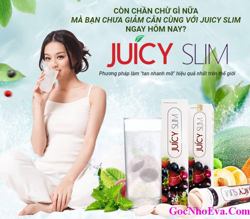 Viên sủi giảm cân Juicy Slim