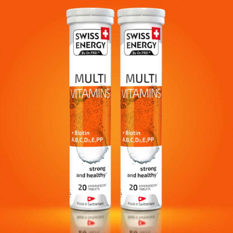 Viên sủi Mutivitamins + Biotin Swiss Energy