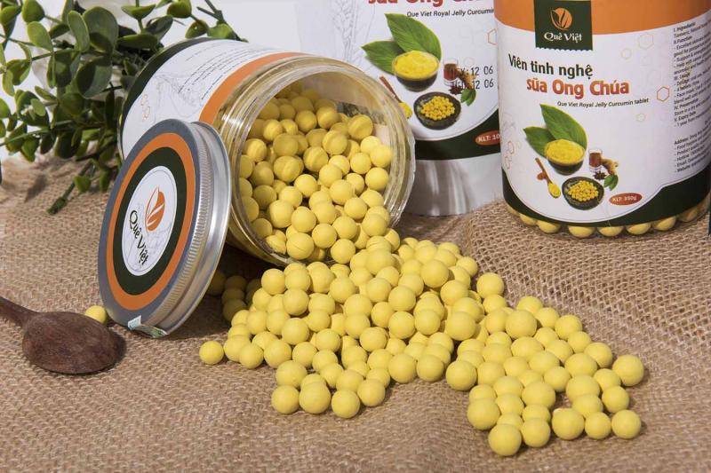 Viên nghệ mật ong, sữa ong chúa quê Việt 100% từ thiên nhiên