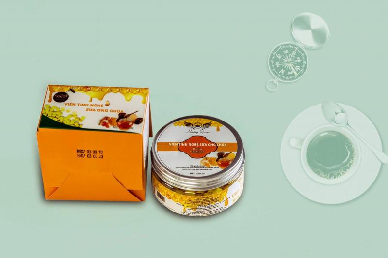 Viên tinh nghệ sữa ong chúa Hương Queen