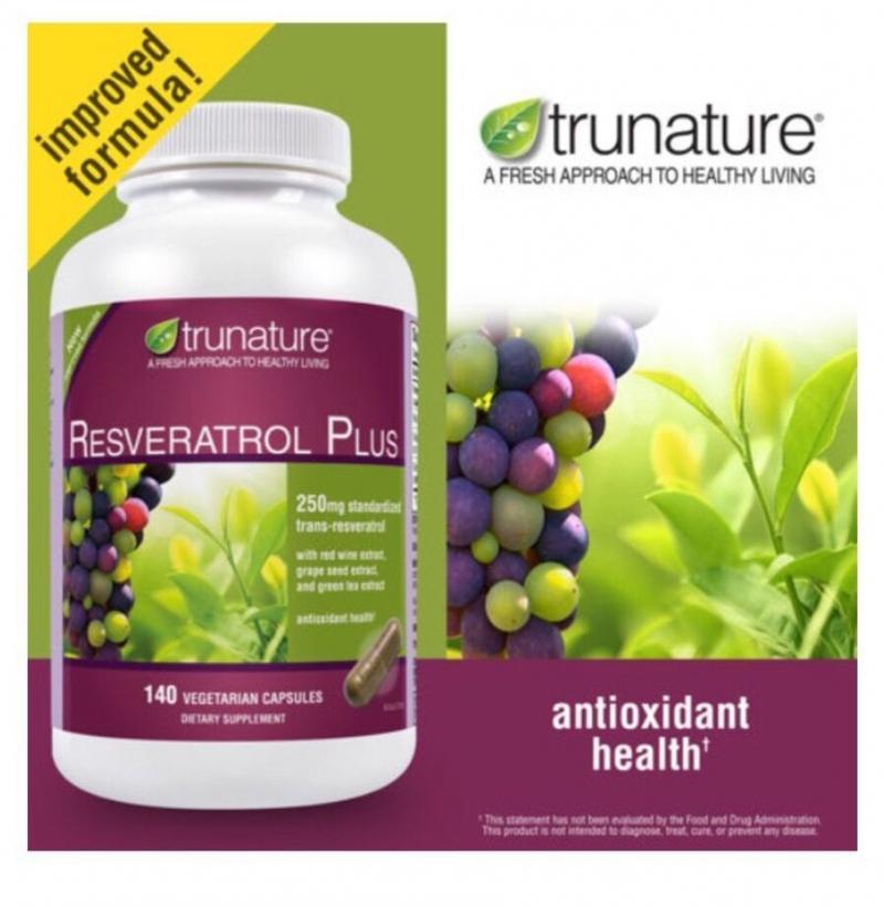Viên uống bảo vệ tim mạch Resveratrol Trunature