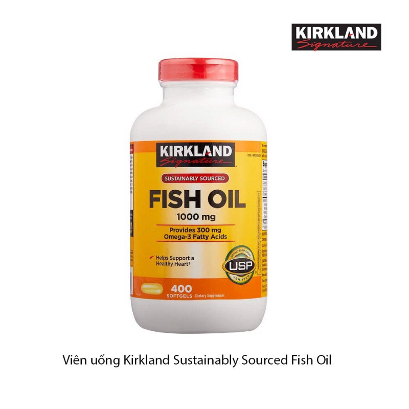 Viên uống bổ mắt Kirkland Fish Oil 1000mg