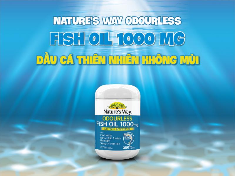 Viên uống bổ mắt Nature's Way Odourless Fish Oil