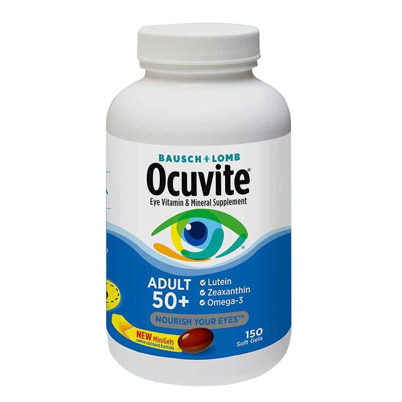 Thuốc bổ mắt Bausch & Lomb Ocuvite Adult 50