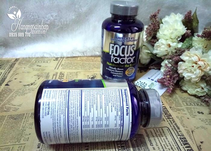 Thực phẩm chức năng Viên Uống Bổ Não focus factor nutrition for the brain 150 tablets Mỹ: