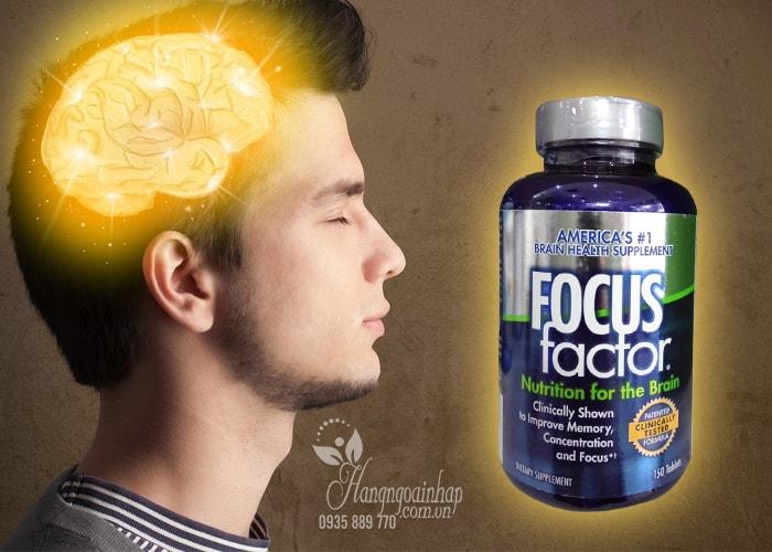 Viên uống bổ não focus factor nutrition for the brain 150 tablets là một dạng thực phẩm chức năng bổ sung dinh dưỡng cho não, bao gồm các thành phần chính là các loại vitamin, khoáng chất, các chất chống oxy hóa và omega 3.