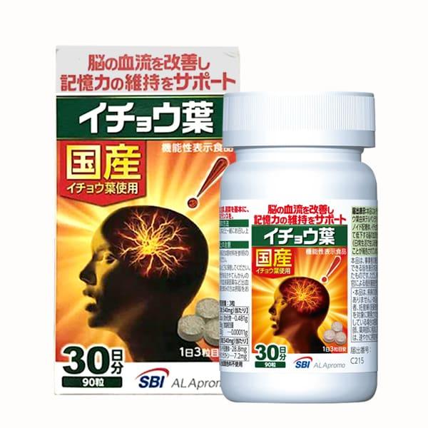 Viên uống bổ não, tuần hoàn máu não Alapromo 90 viên Nhật