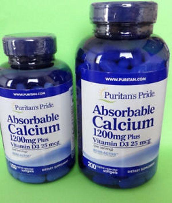 Viên uống bổ sung Canxi hàm lượng cao Absorbable calcium 1200mg plus vitamin D3 25mcg: