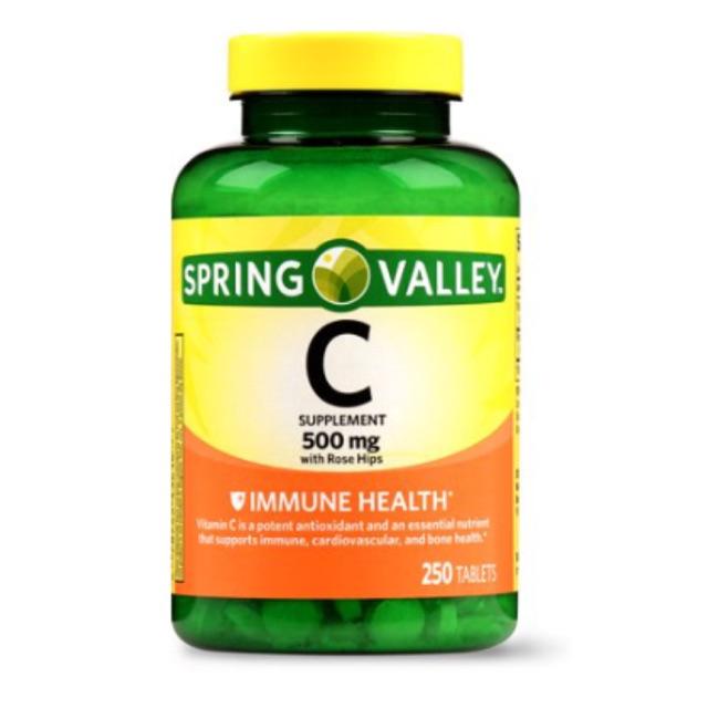 Viên uống bổ sung vitamin C Spring Valley Vitamin C 1000mg