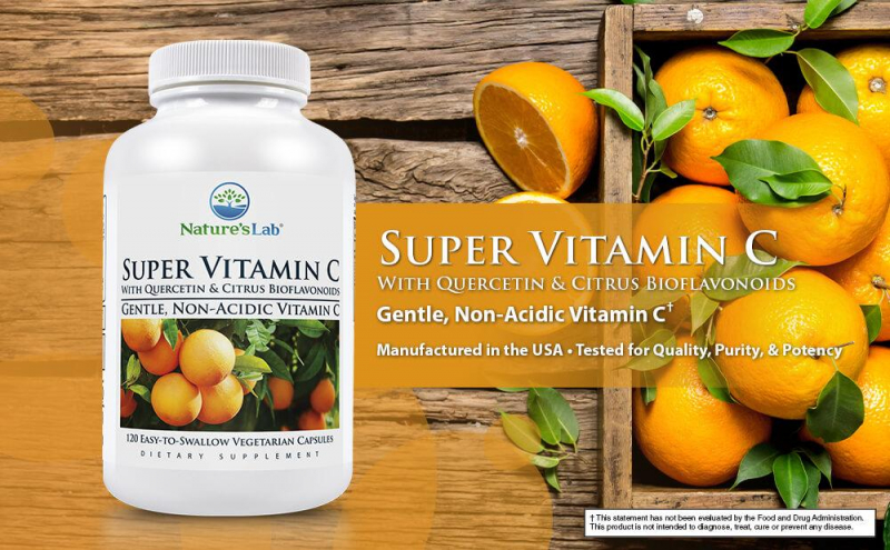 Viên uống bổ sung vitamin C từ Nature's Lab Super Vitamin C 1000mg