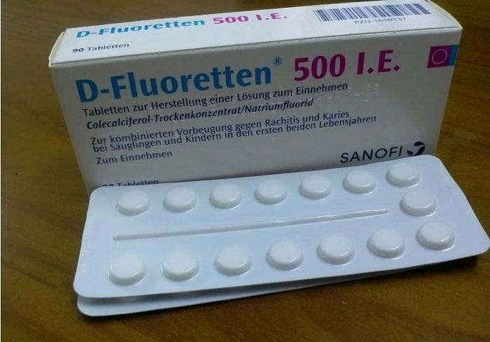 D-Fluoretten 500 I.E dùng cho trẻ từ 17 ngày tuổi đến 24 tháng tuổi, giúp cung cấp vitamin D và lượng canxi cần thiết cho trẻ trong giai đoạn đầu