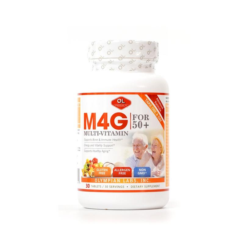 Viên Uống Bổ Sung Vitamin M4G Multi Vitamin For 50+ Cho Người Trên 50 Tuổi Olympian Labs