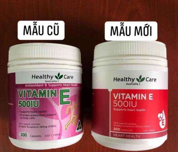 Viên uống bổ tim và chống lão hóa Healthy Care Vitamin E 500IU