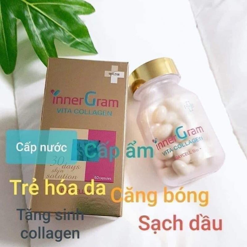 Viên uống cấp nước trắng da Inner Gram Vita Collagen