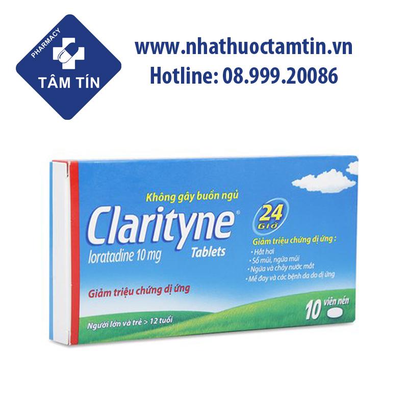 Viên uống chống  dị ứng Clarityne được dùng với liều thông thường là 10mg