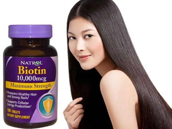 Viên uống chống rụng tóc, mọc tóc Biotin 10000mcg Natrol