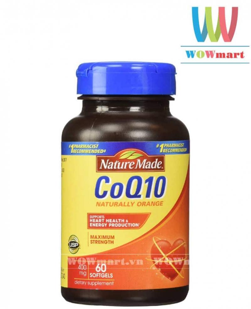 Viên Hỗ Trợ Tim Mạch Nature Made CoQ10 400mg 60 Viên: