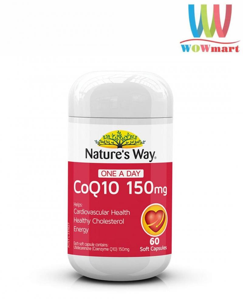 Viên uống CoQ10 hỗ trợ tim mạch Nature's Way CoQ10 150mg