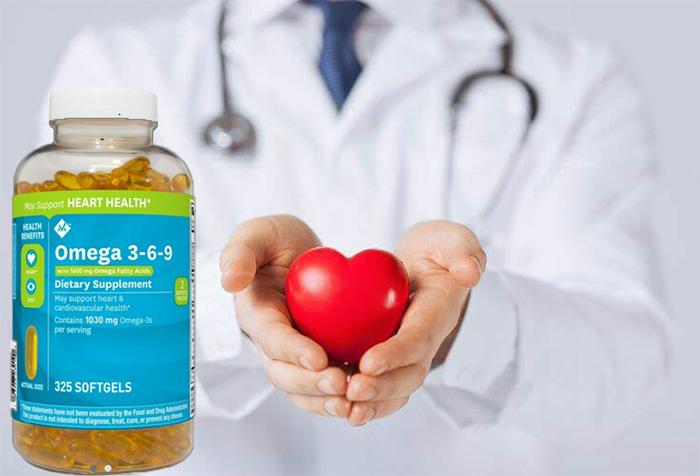 Viên uống dầu cá Member's Mark Omega 3-6-9 Supports Heart Health