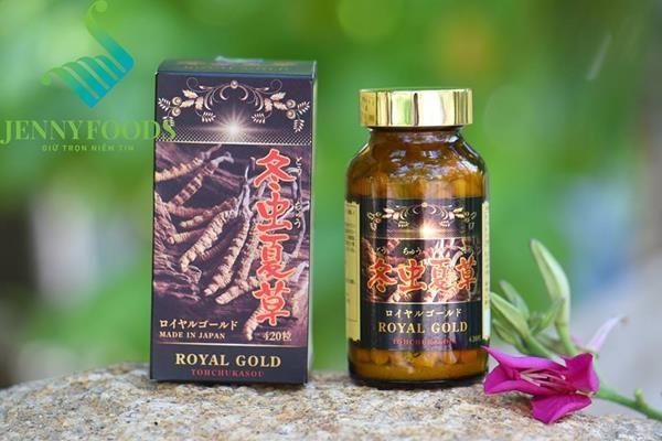 Viên Uống Đông Trùng Hạ Thảo Tohchukasou Royal Gold Cao Cấp Nhật Bản: