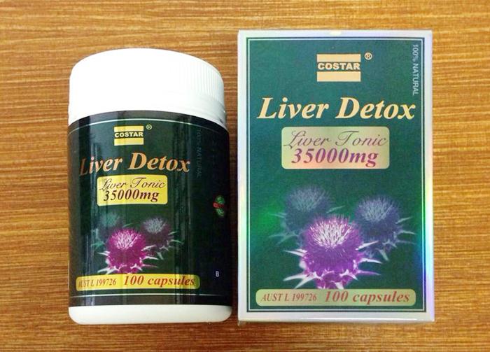 Viên uống giải độc gan Costar Liver Detox 35000mg 100 viên