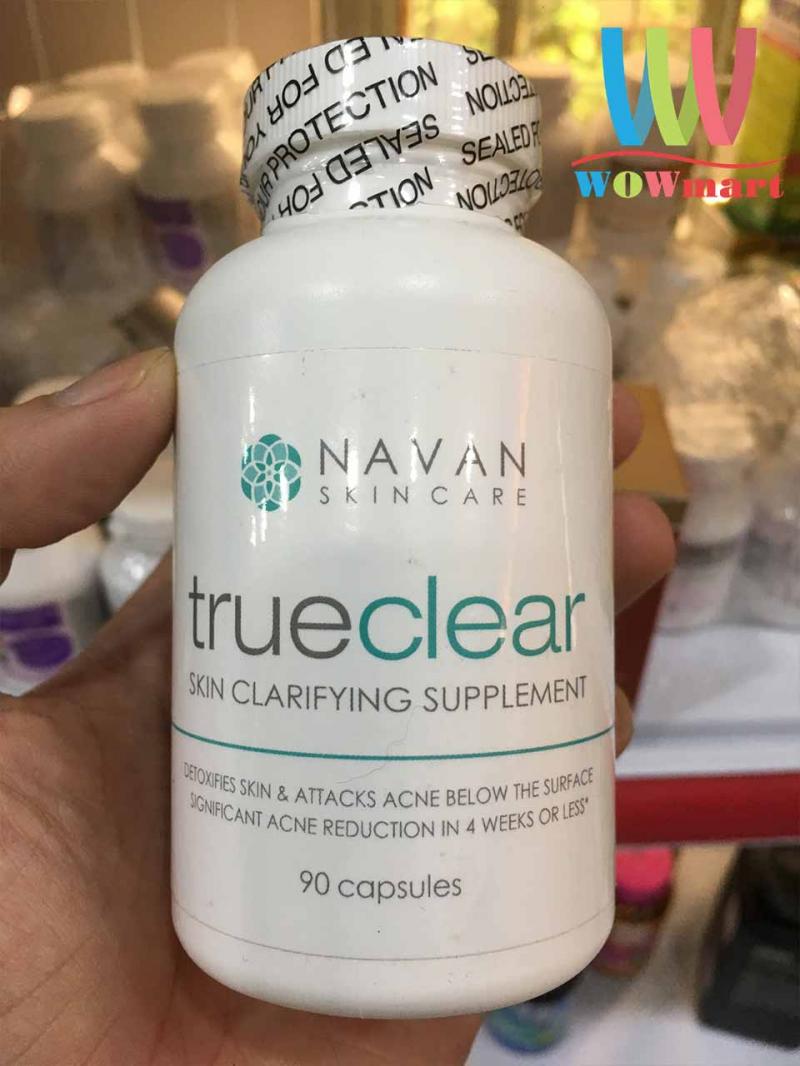 Viên uống giải độc gan, trị mụn Navan Skin Care Trueclear 90 viên