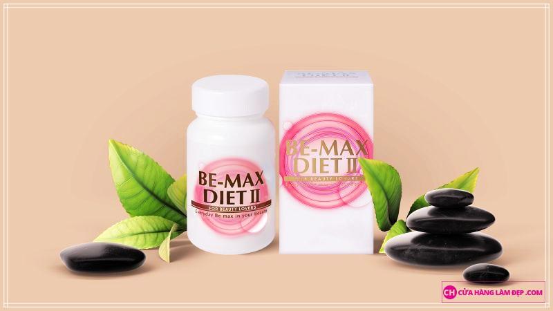 Viên uống giảm cân Be-Max Diet II kết hợp của nhiều thành phần dưỡng chất như CoQ10, trà xanh, tiêu đen, dầu oliu là liệu pháp ăn kiêng hữu hiệu, giúp giảm mỡ trong tế bào và mang đến giải pháp giảm cân hiệu quả rõ rệt và được nhiều phụ nữ Nhật Bản tin dùng