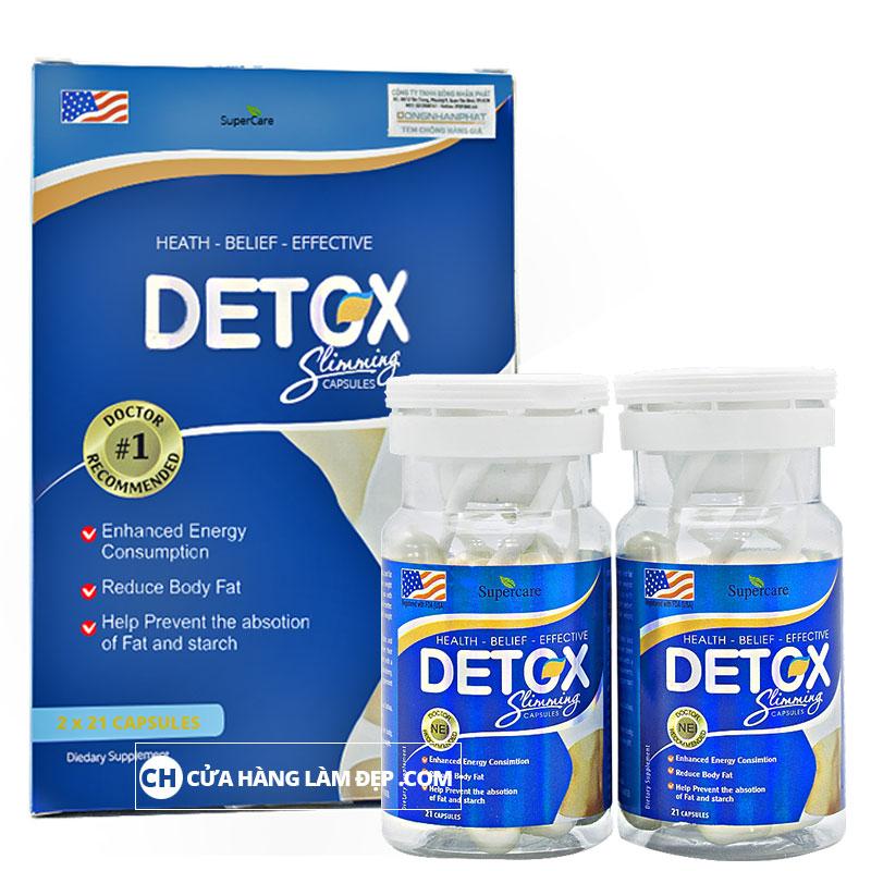 Ngoài công dụng giảm cân, Detox Slimming Capsules còn có thể làm đẹp da, thanh lọc cơ thể và ngăn ngừa các bệnh về tim mạch, huyết áp.