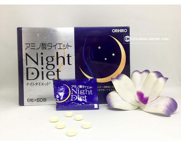 Viên uống giảm cân Night Diet Orihiro Hộp 60 Viên Nhật Bản