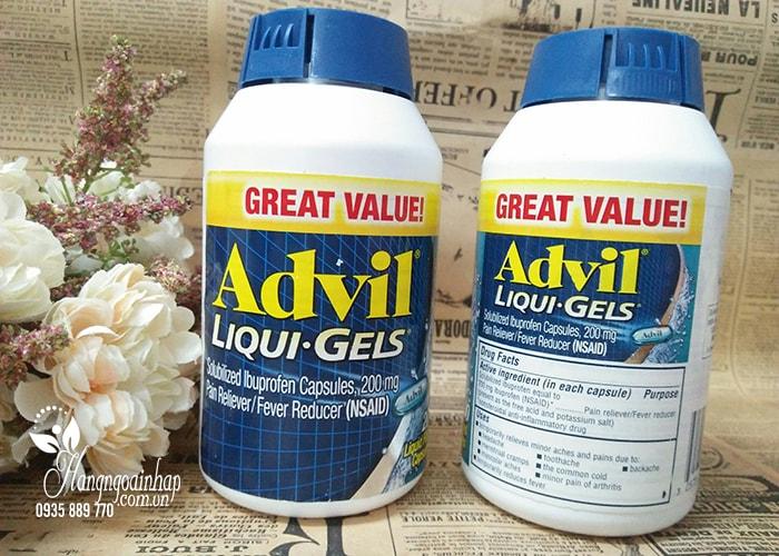 Thực phẩm chức năng Viên uống giảm đau Advil Liqui Gels 200mg hộp 200 viên của Mỹ: