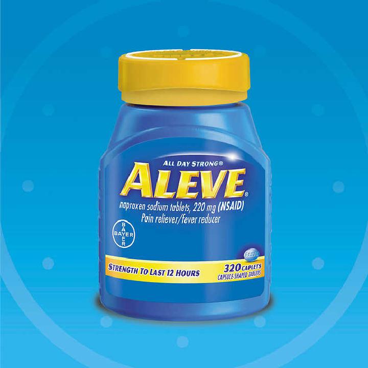 Viên uống giảm đau, hạ sốt Aleve naproxen Sodium 220mg