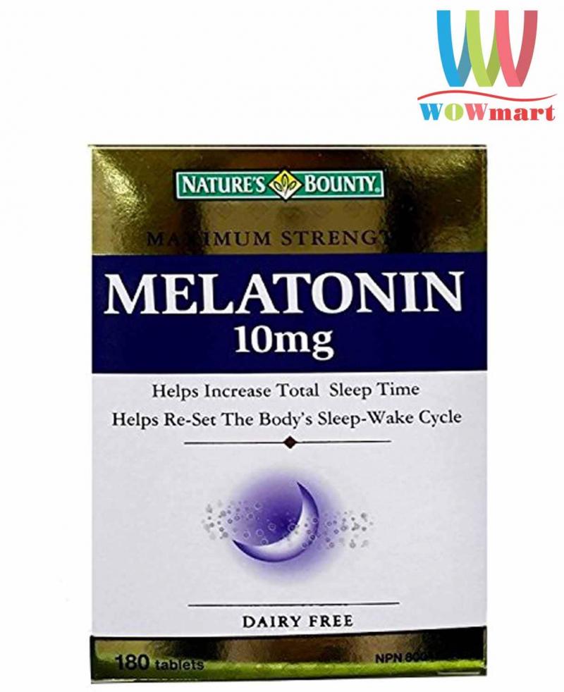 Viên uống giúp ngủ ngon Nature's Bounty Melatonin 10mg 180 viên