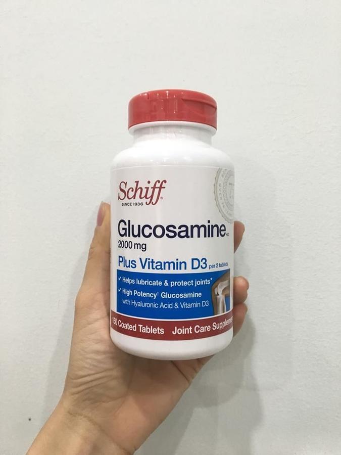 Schiff Glucosamine sử dụng Glucosamine hydrochloride là thành phần có hoạt tính cao nhất của Glucosamine.