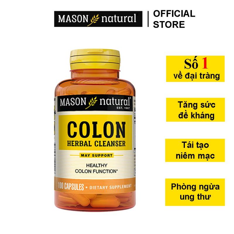 Viên Uống Hỗ Trợ Chức Năng Đại Tràng MASON NATURAL Colon Herbal Cleanser
