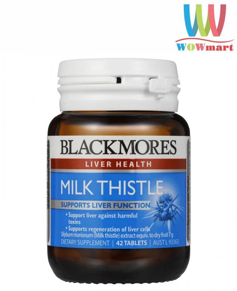 Viên uống hỗ trợ chức năng gan Blackmores Milk Thistle 42 viên