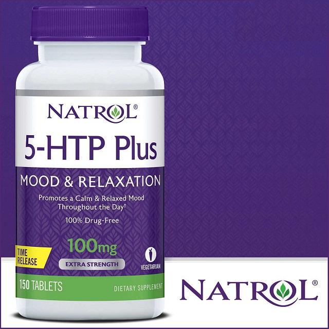 Thực phẩm chức năng viên hỗ trợ giảm căng thẳng Natrol 5-HTP Mood & Relaxation