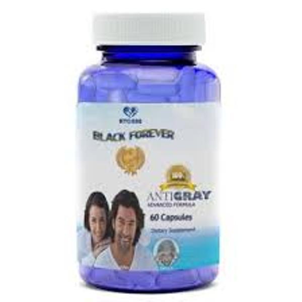 Viên uống hỗ trợ trị rụng tóc, hỗ trợ điều trị bạc tóc, giảm bạc tóc sớm Black Forever