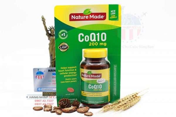 Viên uống hỗ trợ và điều trị tim mạch Nature Made® CoQ10 200mg của Mỹ