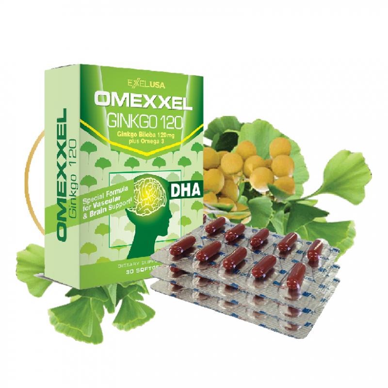 Viên uống hoạt huyết dưỡng não Omexxel Ginkgo 120 ( 30 viên)