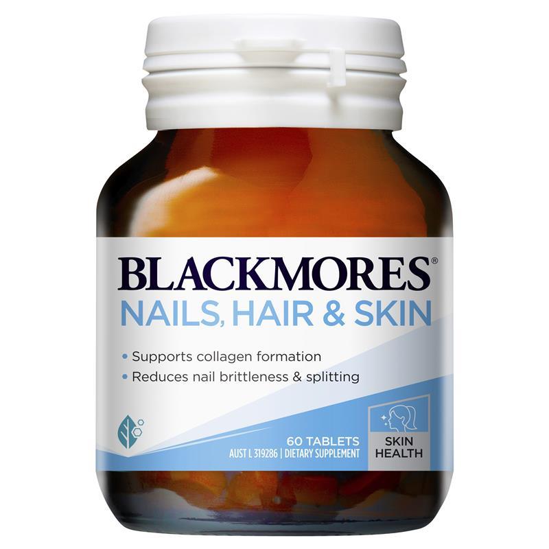 Viên uống đẹp da, móng và tóc - Blackmores Nails, Hair & Skin Úc