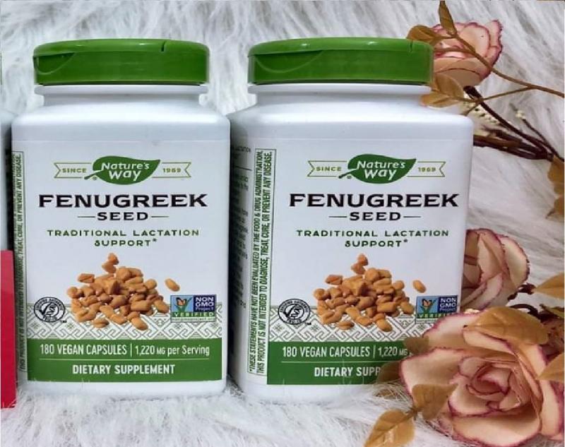 Viên Uống Lợi Sữa Fenugreek Seed, 180 viên