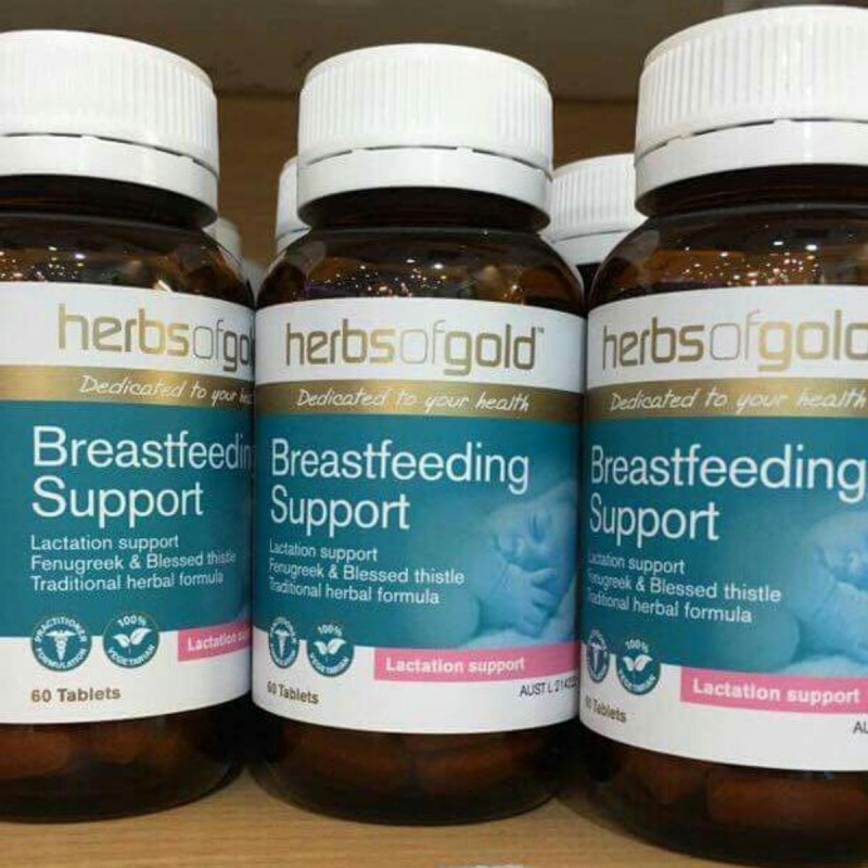 Viên uống lợi sữa Herbs of Gold Breastfeeding Support 60 viên