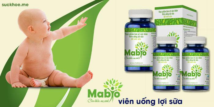 Mabio giúp nâng cao số lượng và chất lượng sữa mẹ.