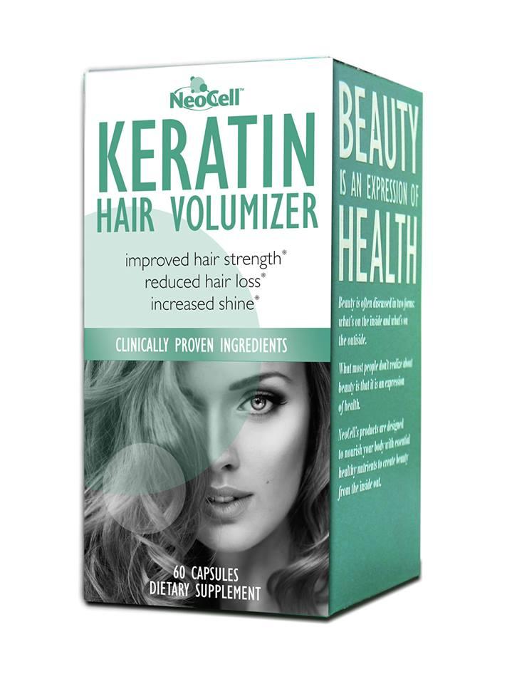 Thực phẩm chức năng NeoCell Collagen Keratin Hair Volumizer Hộp 60 Viên Của Mỹ