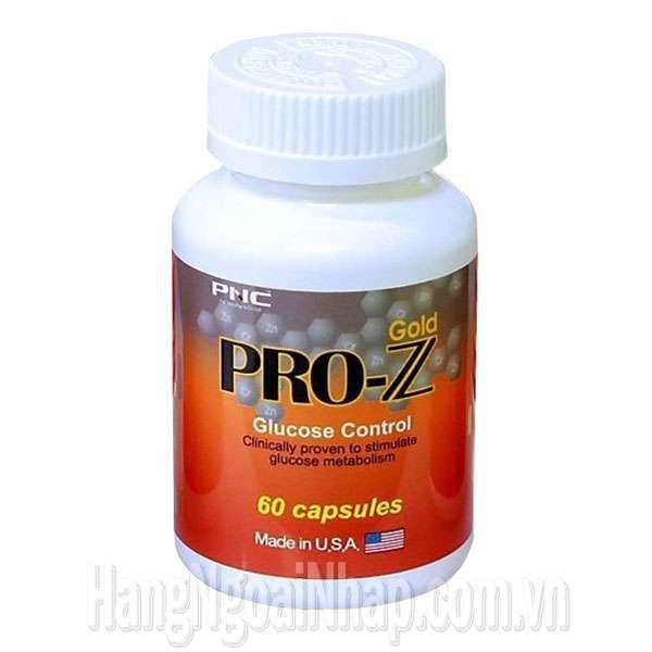 Viên uống Pro Z Gold Glucose Control cân bằng đường huyết cho người tiểu đường