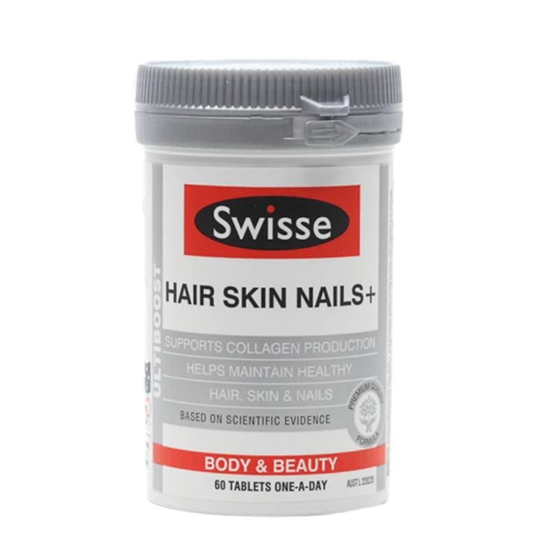 Viên uống Swisse Hair Skin Nails 60 viên