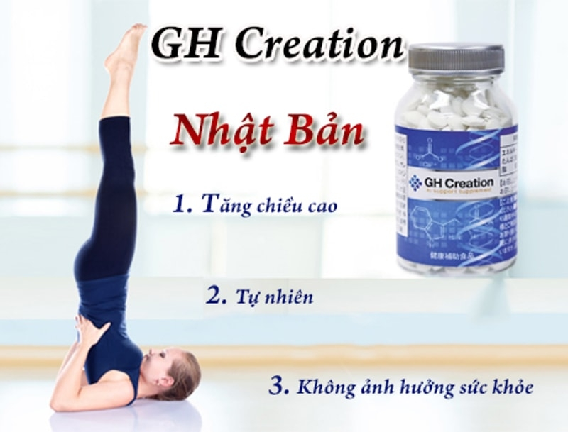 Viên uống tăng trưởng chiều cao GH Creation