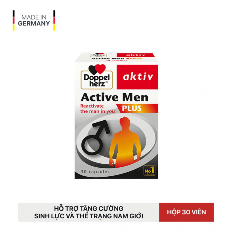 Viên uống tăng cường sinh lực, hỗ trợ sinh lý nam Doppelherz Aktiv Active Men Plus